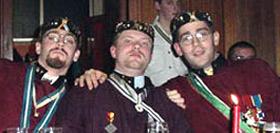 3 des 5 Grands-Maîtres du 2ème lustre : Marc blondeau ; Fabian Pede et Pierre Blondeau