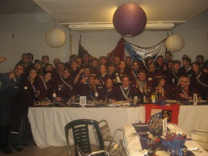 Les membres ANLO lors du banquet de l'an XX