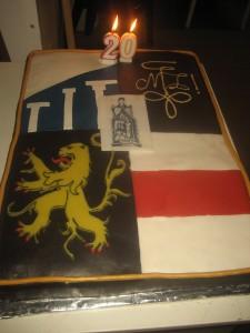 Le Gâteau d'anniversaire des 20 ans (confection: Garance Mahaux)